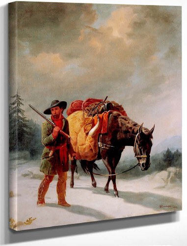 A Trapper Crossing The Mountains By William Tylee Ranney
