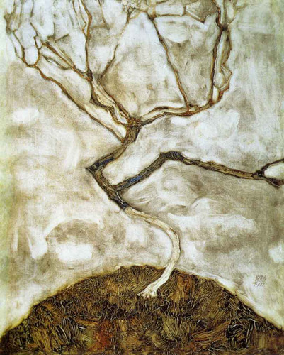 A Tree In Late Autumn By Egon Schiele By Egon Schiele
