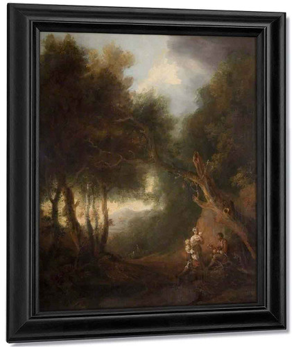 A Wooded Landscape, Autumn Evening By Thomas Gainsborough By Thomas Gainsborough