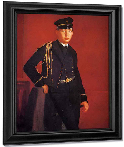 Achille De Gas In The Uniform Of A Cadet By Edgar Degas By Edgar Degas