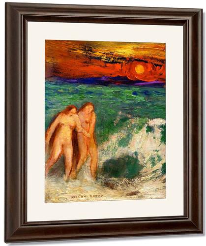 Adam And Eve By Odilon Redon By Odilon Redon