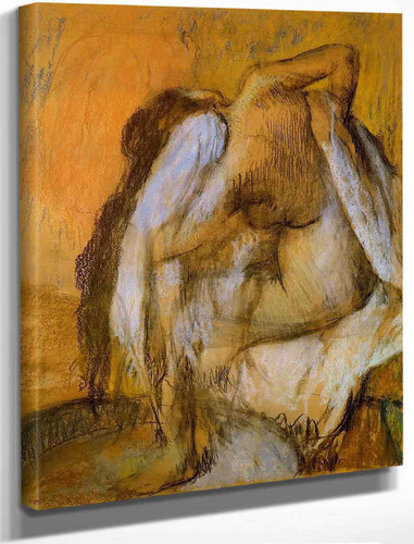 After The Bath, Woman Drying Herself1 By Edgar Degas By Edgar Degas
