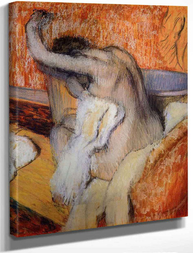 After The Bath, Woman Drying Herself By Edgar Degas By Edgar Degas