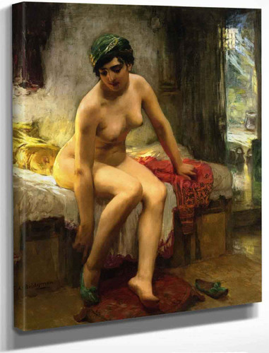 After The Bath By Frederick Arthur Bridgman