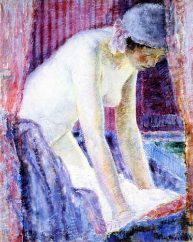 After The Bath By Frederick Carl Frieseke By Frederick Carl Frieseke