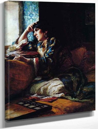 Aicha, A Woman Of Morocco By Frederick Arthur Bridgman