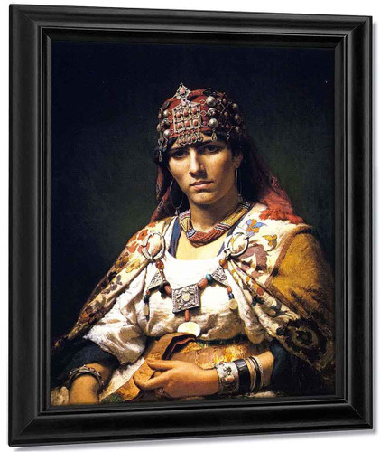 Aicha, Woman Of The Kabylia Mountains By Frederick Arthur Bridgman