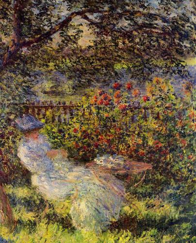 Alice Hoschede In The Garden By Claude Oscar Monet