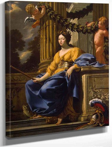 Allegorical Portrait Of Anna Of Austria As Minerva By Simon Vouet