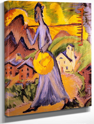 Alpine Life, Triptych (Right Panel) By Ernst Ludwig Kirchner(German, 1880 1938) By Ernst Ludwig Kirchner(German, 1880 1938)