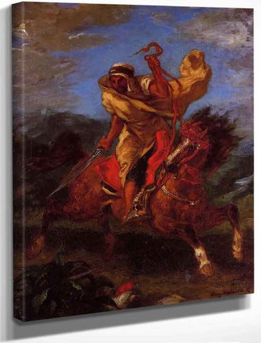 An Arab Horseman At The Gallop By Eugene Delacroix By Eugene Delacroix