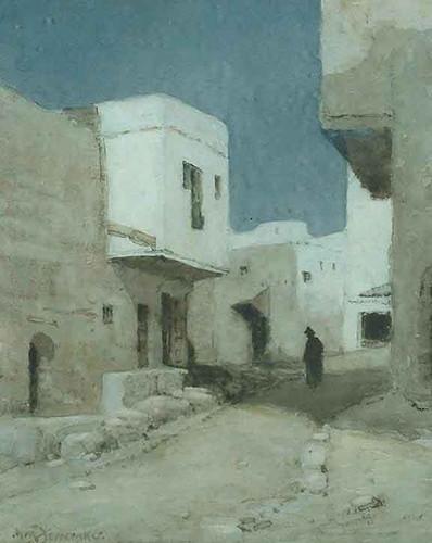 An Arabian Street At Night By Albert Moulton Foweraker