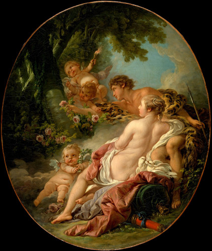 Angelica And Medoro By Francois Boucher