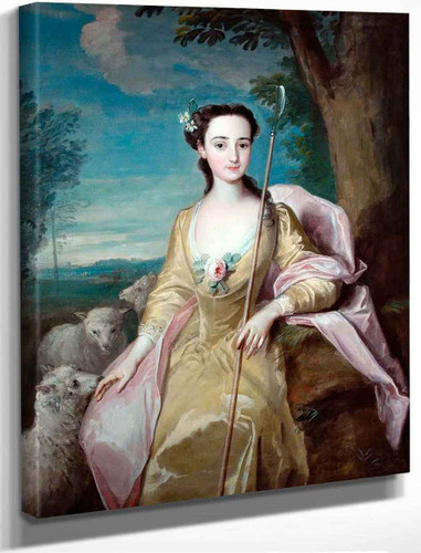 Anne Fairfax As A Shepherdess By Philipe Mercier