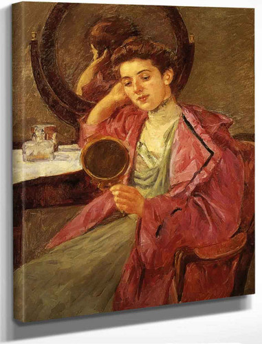 Antoinette At Her Dressing Table By Mary Cassatt By Mary Cassatt