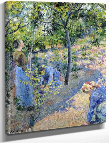Apple Picking By Camille Pissarro By Camille Pissarro