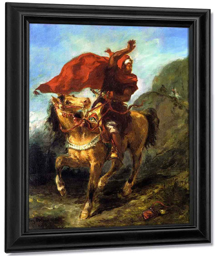Arab Chieftain Signaling To His Companions By Eugene Delacroix By Eugene Delacroix