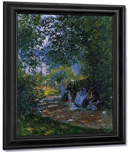 At The Parc Monceau By Claude Oscar Monet