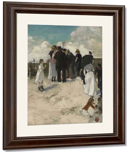 At The Shore By Alfred Henry Maurer By Alfred Henry Maurer