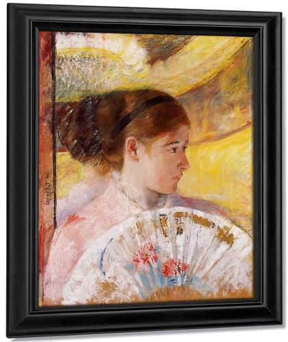 At The Theater By Mary Cassatt By Mary Cassatt