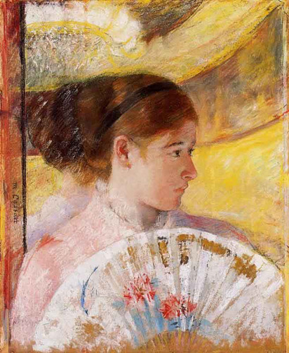 At The Theater By Mary Cassatt By Mary Cassatt