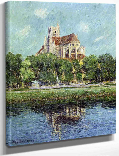 Auxerre Cathedral 1 By Gustave Loiseau By Gustave Loiseau