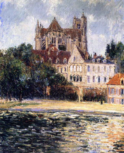 Auxerre Cathedral By Gustave Loiseau By Gustave Loiseau