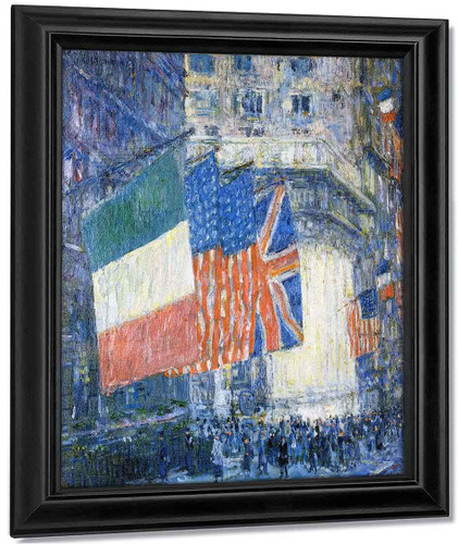 Avenue Of The Allies By Frederick Childe Hassam By Frederick Childe Hassam
