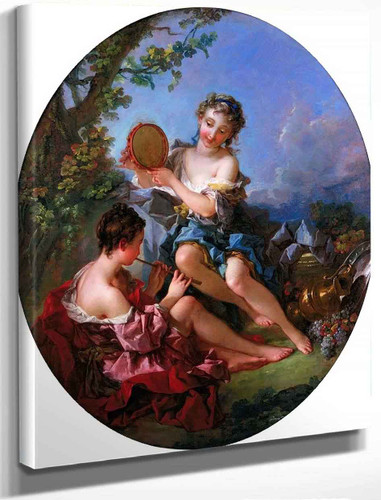 Bacchants By Francois Boucher