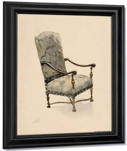 Baroque Chair By Albert Edelfelt
