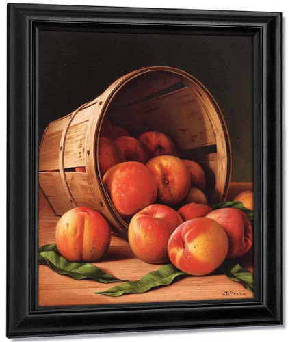 Basket Of Peaches2 By Levi Wells Prentice By Levi Wells Prentice