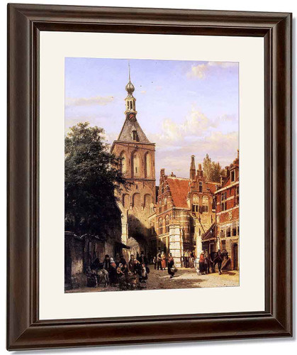 Binnenpoort In Culemborg By Cornelius Springer