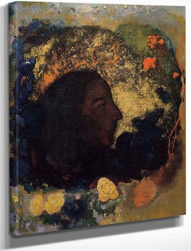 Black Profile By Odilon Redon By Odilon Redon