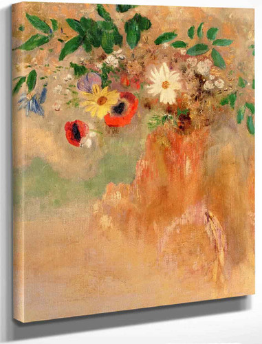 Bouquet Of Flowers1 By Odilon Redon By Odilon Redon