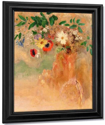Bouquet Of Flowers1 By Odilon Redon By Odilon Redon