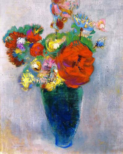 Bouquet Of Flowers5 By Odilon Redon By Odilon Redon