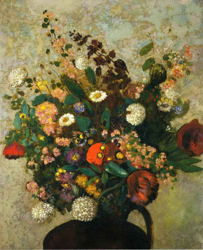 Bouquet Of Flowers6 By Odilon Redon By Odilon Redon