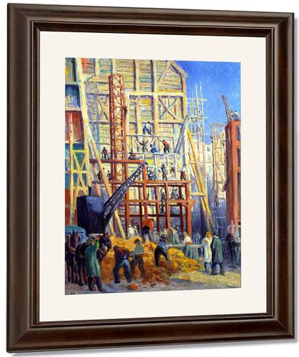 Building Site1 By Maximilien Luce By Maximilien Luce