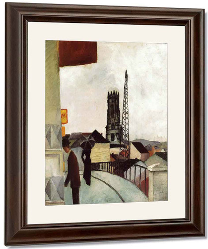 Cathedral At Freiburg, Switzerland By August Macke