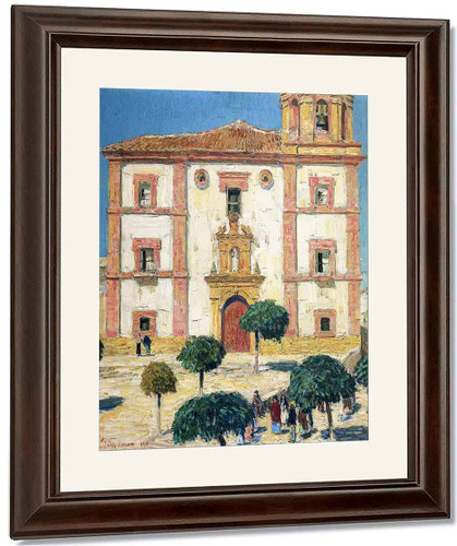 Cathedral At Ronda By Frederick Childe Hassam By Frederick Childe Hassam