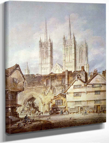Cathedral Church At Lincoln By Joseph Mallord William Turner