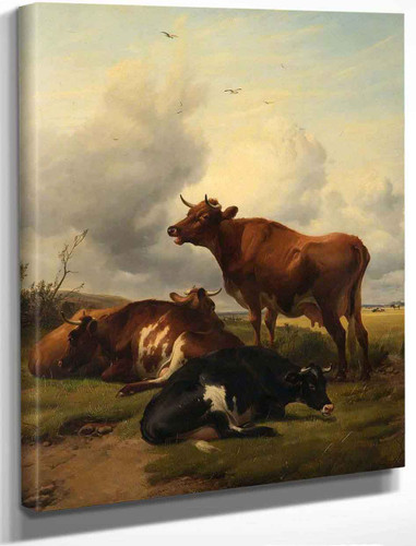 Cattle3 By Thomas Sidney Cooper By Thomas Sidney Cooper