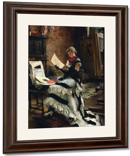 Chez L'artiste By Albert Edelfelt