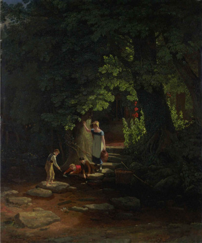 Children By A Brook By Francis Danby