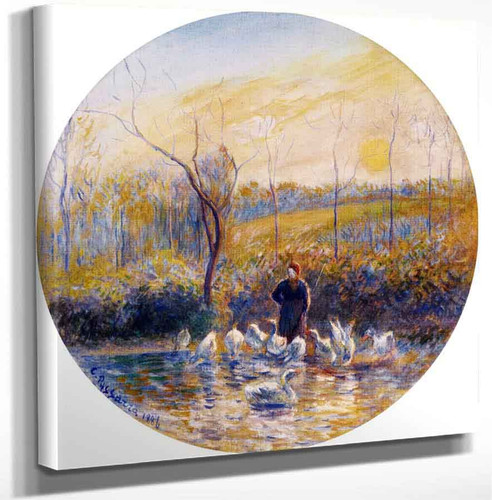 Goose Girl By Camille Pissarro Art Reproduction