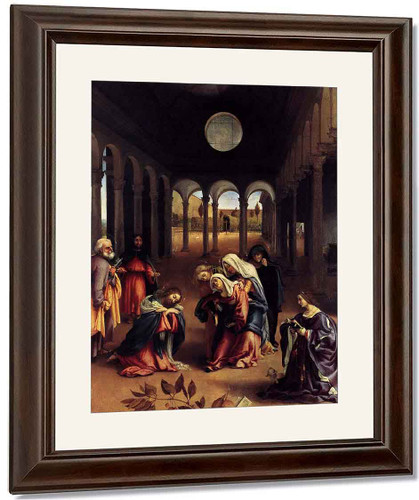 Christ Taking Leave Of His Mother By Lorenzo Lotto