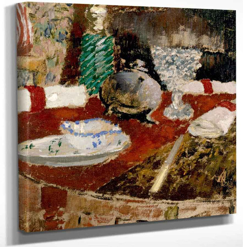 Gravy Boat And Napkin Rings By Edouard Vuillard Art Reproduction