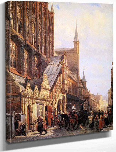 Cityhall In Lubeck By Cornelius Springer