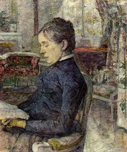 Comtesse A. De Toulouse Lautrec In The Salon At Malrome By Henri De Toulouse Lautrec