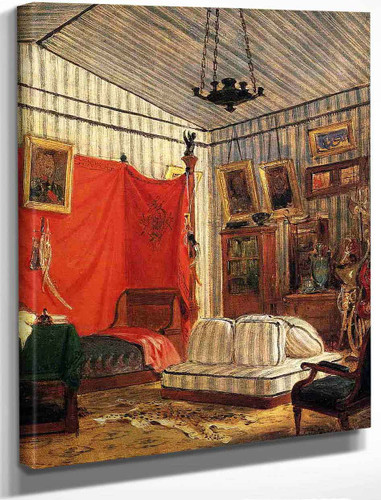 Count De Mornay's Apartment By Eugene Delacroix By Eugene Delacroix